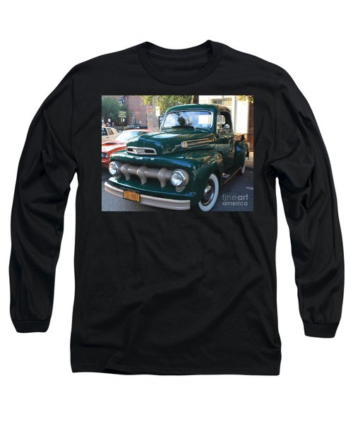 1952  Ford Pick Up Truck Front And Side View Long Sleeve T-Shirt by John Telfer