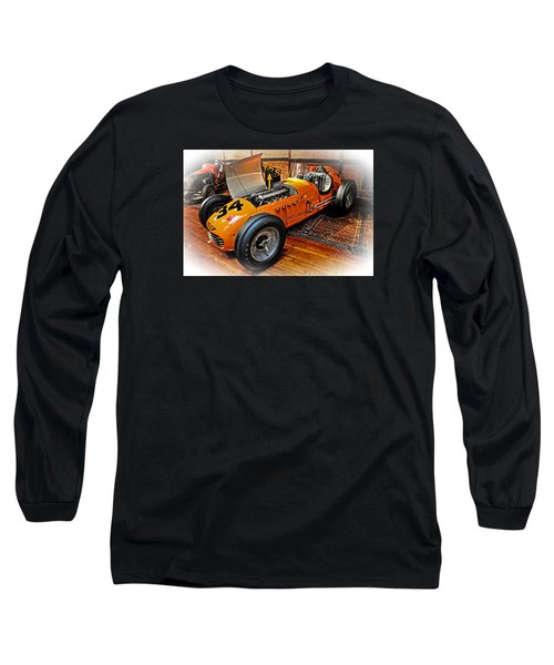Long Sleeve T-Shirt featuring the photograph 1952 Indy 500 Roadster by Mike Martin