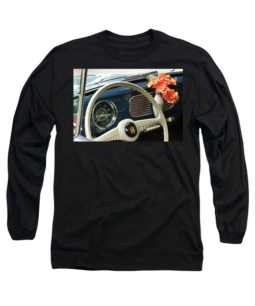 1952 Volkswagen Vw Bug Steering Wheel Long Sleeve T-Shirt