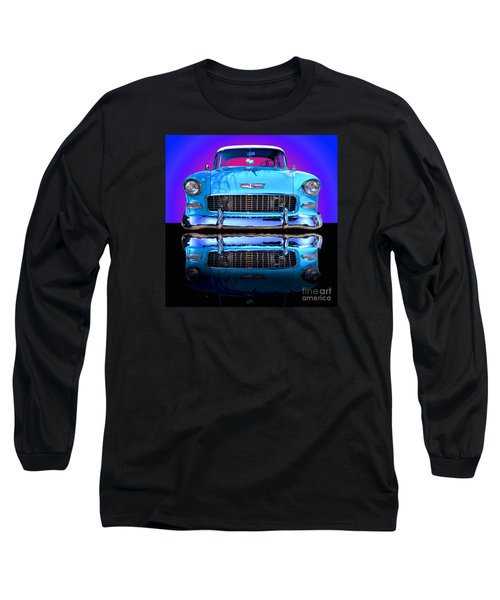 1955 Chevy Bel Air Long Sleeve T-Shirt by Jim Carrell