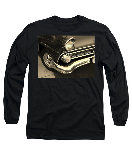 Long Sleeve T-Shirt featuring the photograph 1955 Ford Crown Victoria by Jean Goodwin Brooks
