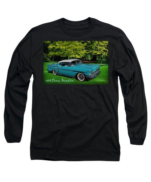 1958 Chev Impala Long Sleeve T-Shirt