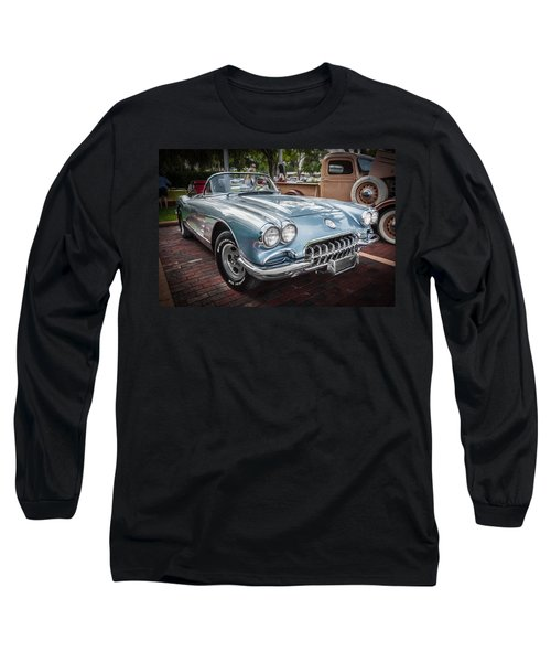 1958 Chevy Corvette Painted Long Sleeve T-Shirt