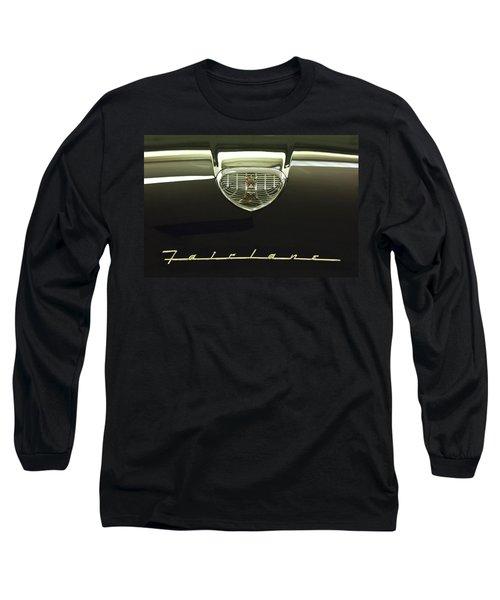 1958 Ford Fairlane 500 Victoria Hood Ornament Long Sleeve T-Shirt
