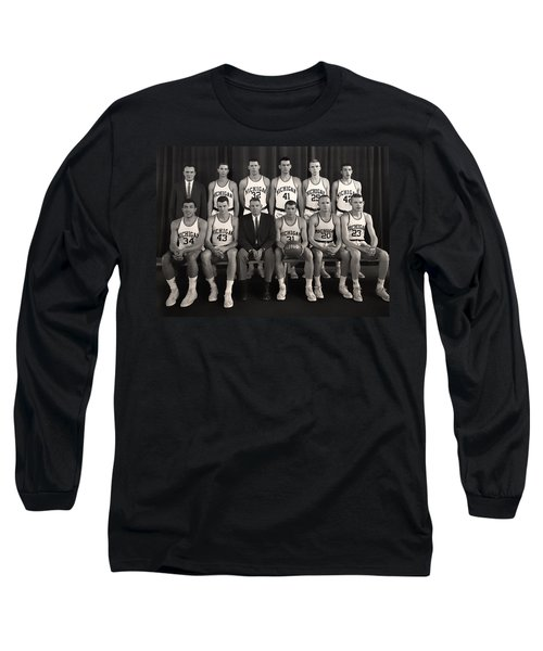 1960 University Of Michigan Basketball Team Photo Long Sleeve T-Shirt by Mountain Dreams