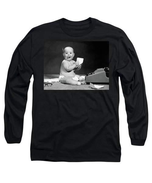 1960s Eager Baby Accountant Working Long Sleeve T-Shirt