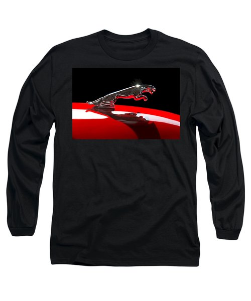 1961 Jaguar Kougar Hood Ornament -0569c Long Sleeve T-Shirt