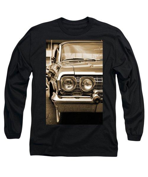 1963 Chevrolet Impala Ss In Sepia Long Sleeve T-Shirt