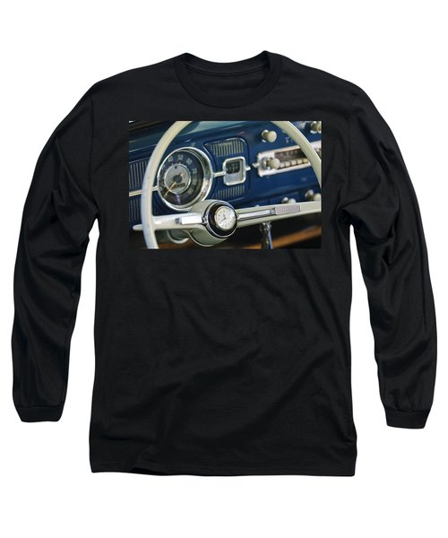 1965 Volkswagen Vw Beetle Steering Wheel Long Sleeve T-Shirt