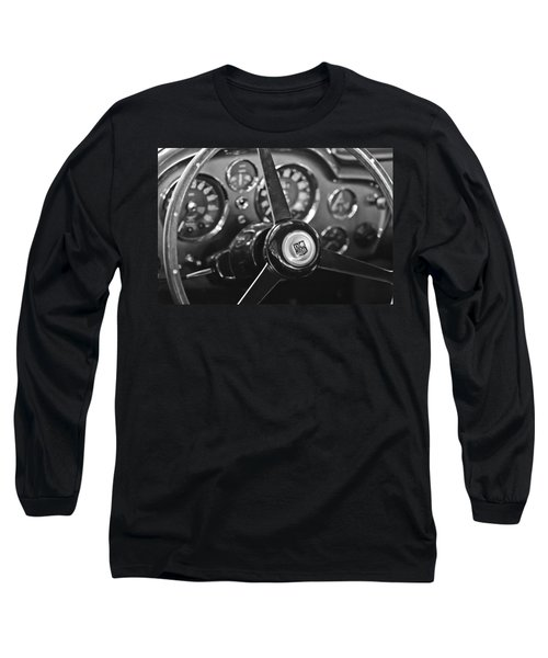 1968 Aston Martin Steering Wheel Emblem Long Sleeve T-Shirt