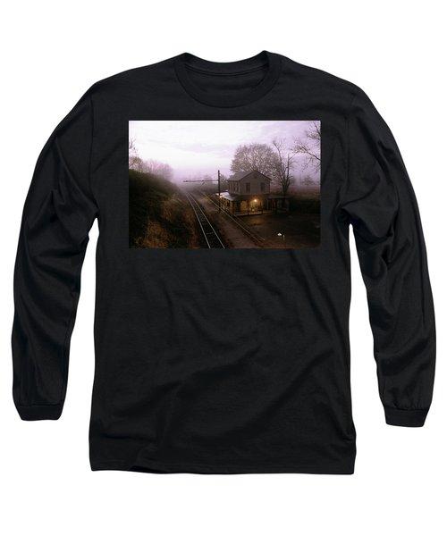 1980s Sunrise Morning Light On Westtown Long Sleeve T-Shirt