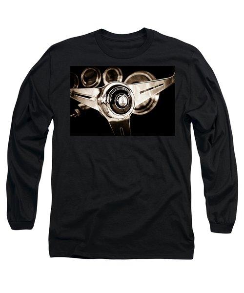 1958 Maserati Steering Wheel Emblem Long Sleeve T-Shirt