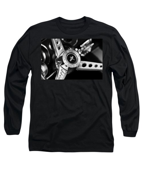 1969 Ford Mustang Mach 1 Steering Wheel Long Sleeve T-Shirt by Jill Reger