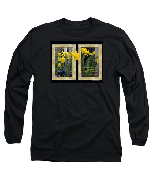 Long Sleeve T-Shirt featuring the photograph A Merry Heart by Larry Bishop