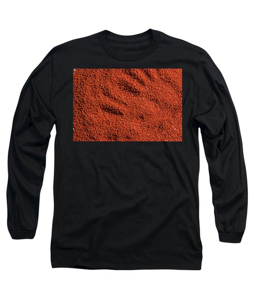 Abstract Texture - Red Long Sleeve T-Shirt