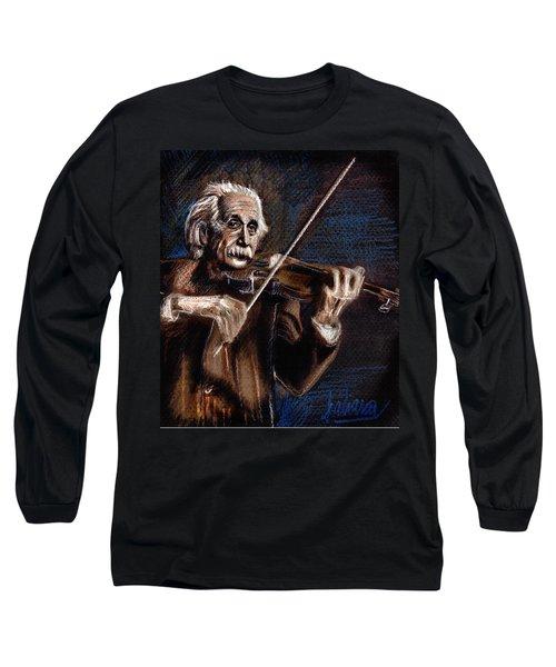Albert Einstein And Violin Long Sleeve T-Shirt