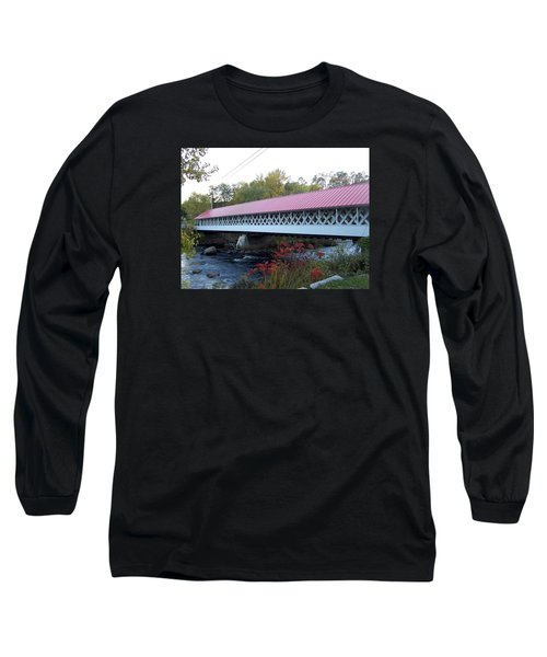 Ashuelot Covered Bridge Long Sleeve T-Shirt by Catherine Gagne
