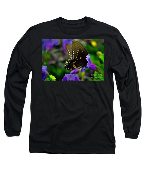 Black Swallowtail Long Sleeve T-Shirt
