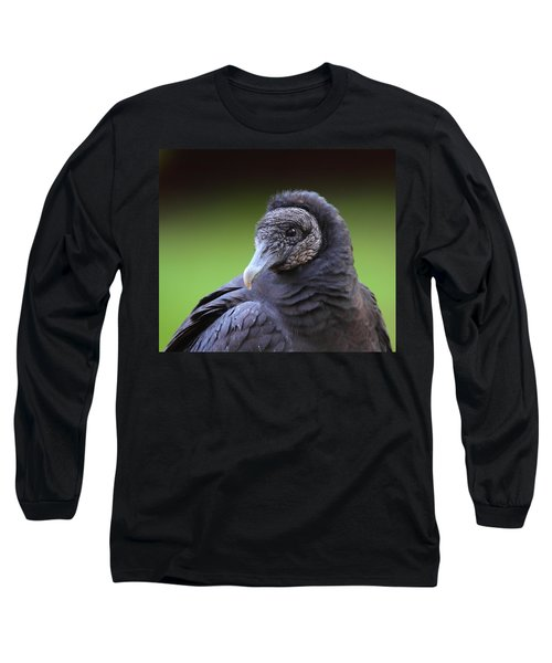 Black Vulture Portrait Long Sleeve T-Shirt