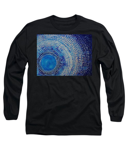 Blue Kachina Original Painting Long Sleeve T-Shirt