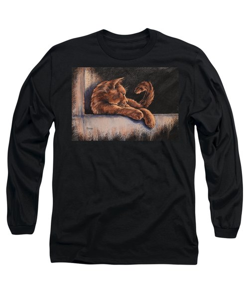 Long Sleeve T-Shirt featuring the painting Catching The Last Rays by Cynthia House