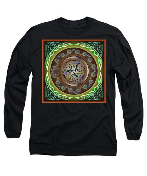 Celtic Pattern Long Sleeve T-Shirt by Ireland Calling