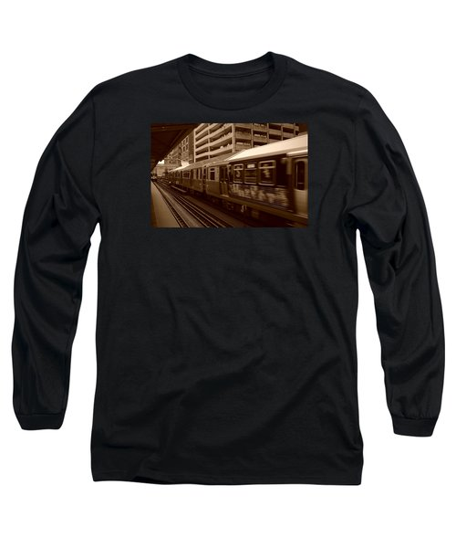 Long Sleeve T-Shirt featuring the photograph Chicago Cta by Miguel Winterpacht