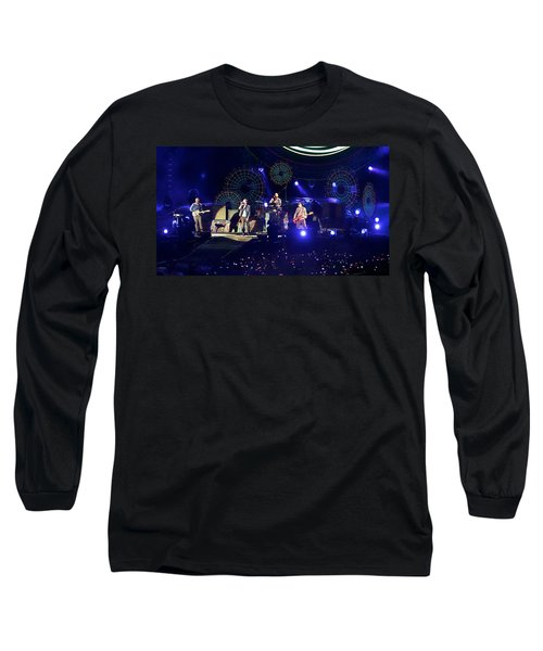 Long Sleeve T-Shirt featuring the photograph Coldplay - Sydney 2012 by Chris Cousins