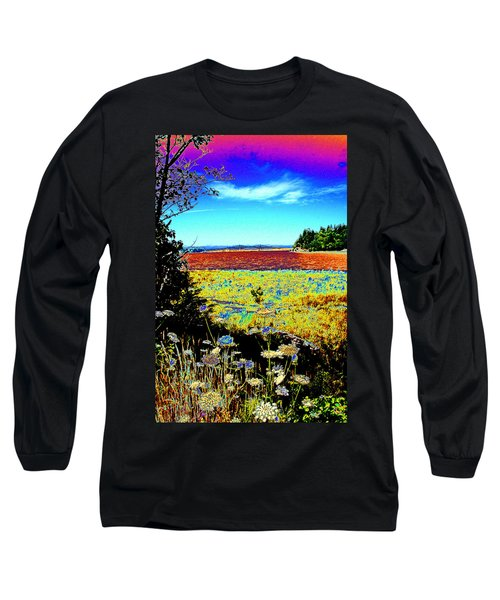 Coos Bay Wild Flowers Long Sleeve T-Shirt