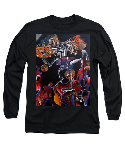 Long Sleeve T-Shirt featuring the painting Copernicasso by Ryan Demaree