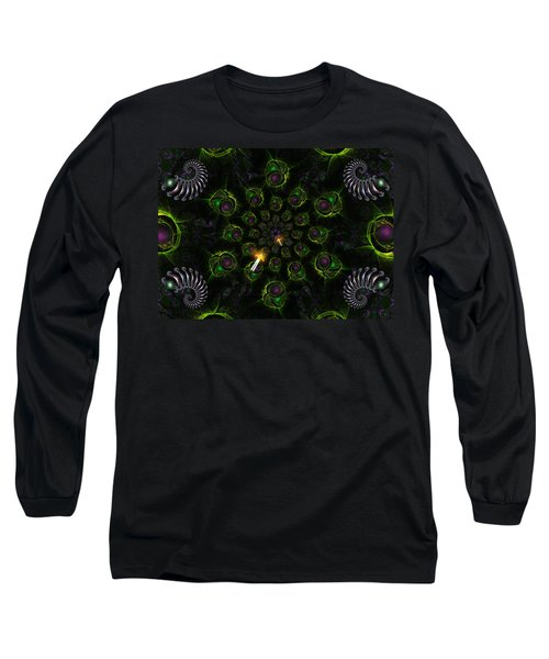 Long Sleeve T-Shirt featuring the digital art Cosmic Embryos by Shawn Dall