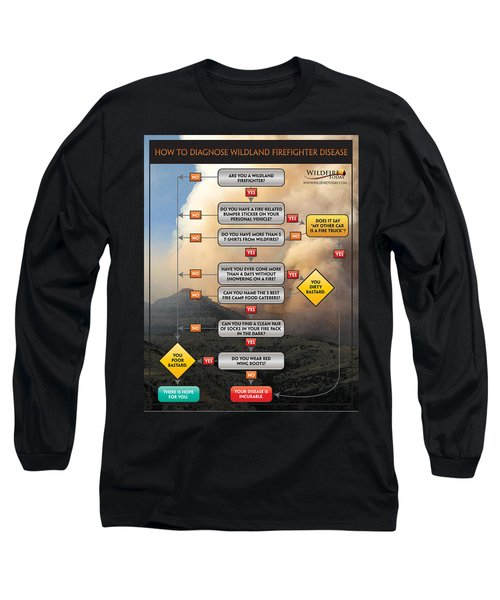 Long Sleeve T-Shirt featuring the photograph Diagnosing Wildland Firefighter Disease by Bill Gabbert