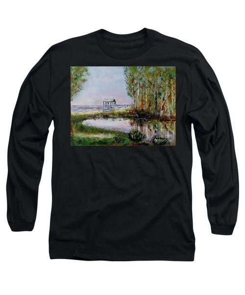 Long Sleeve T-Shirt featuring the painting Fairhope Al. Duck Pond by Melvin Turner