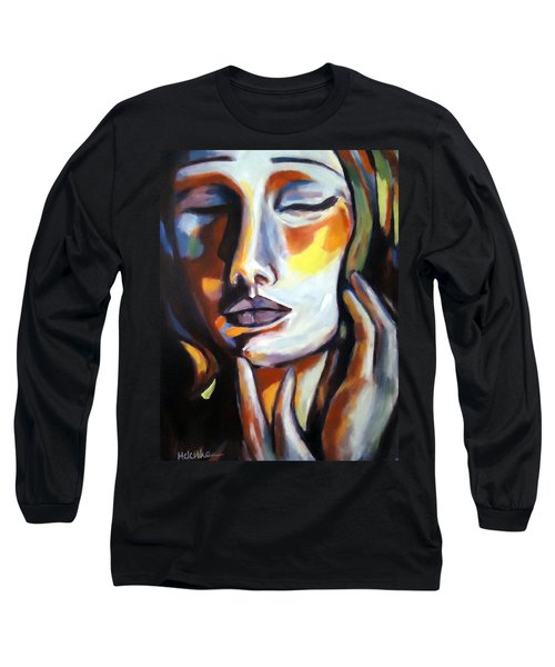 Long Sleeve T-Shirt featuring the painting Emotion by Helena Wierzbicki