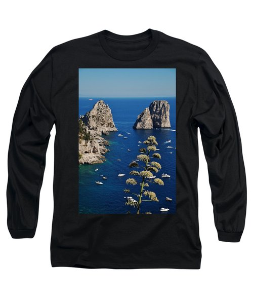 Faraglioni In Capri Long Sleeve T-Shirt