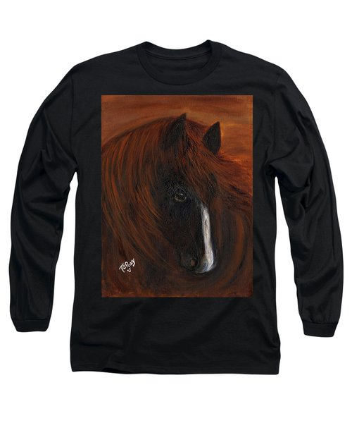 Long Sleeve T-Shirt featuring the painting Firestorm by Barbie Batson