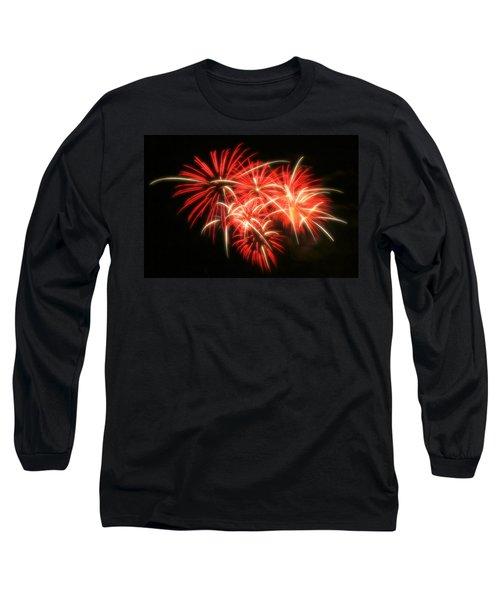 Fireworks Over Kauffman Stadium Long Sleeve T-Shirt