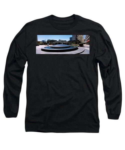 Fountain In A Park, Plaza De Cesar Long Sleeve T-Shirt
