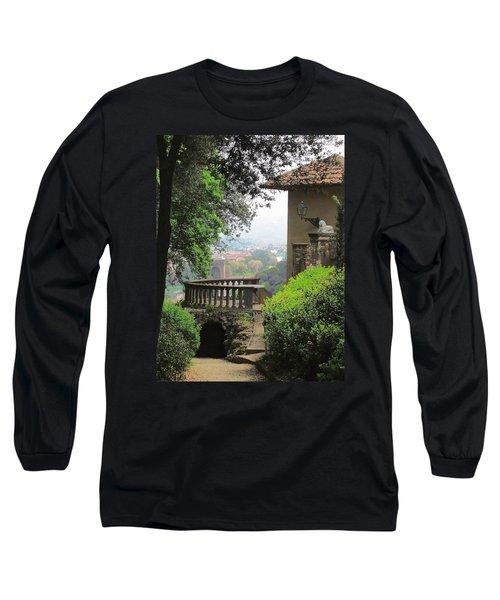 Garden View Long Sleeve T-Shirt by Ellen Henneke
