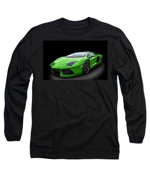 Green Aventador Long Sleeve T-Shirt