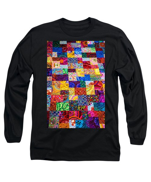 Hand Made Quilt Long Sleeve T-Shirt