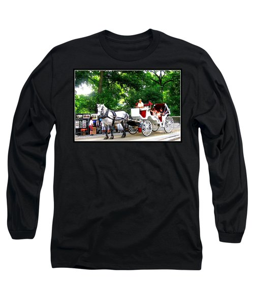Horse And Carriage In Central Park Long Sleeve T-Shirt