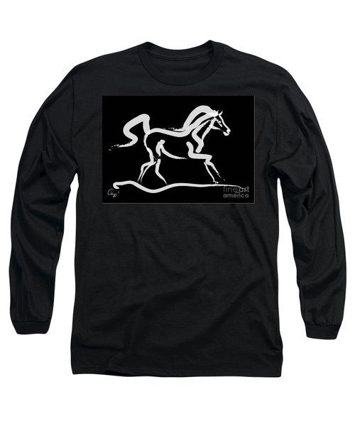 Horse-runner Long Sleeve T-Shirt by Go Van Kampen