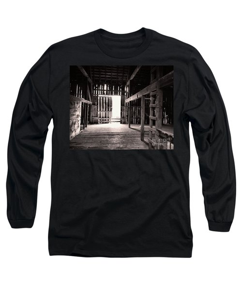 Long Sleeve T-Shirt featuring the photograph Inside An Old Barn by John S