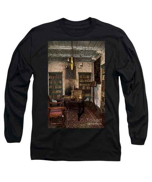 Junipero Serra Library In Carmel Mission Long Sleeve T-Shirt