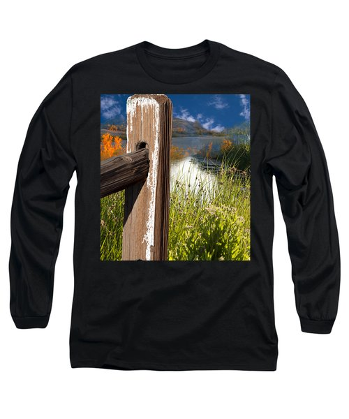 Landscape With Fence Pole Long Sleeve T-Shirt