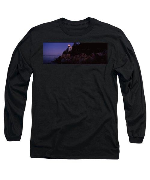 Lighthouse On The Coast, Bass Head Long Sleeve T-Shirt