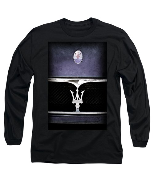 Maserati Hood - Grille Emblems Long Sleeve T-Shirt