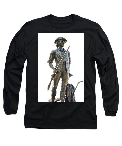 Minute Man Statue Concord Massachusetts Long Sleeve T-Shirt