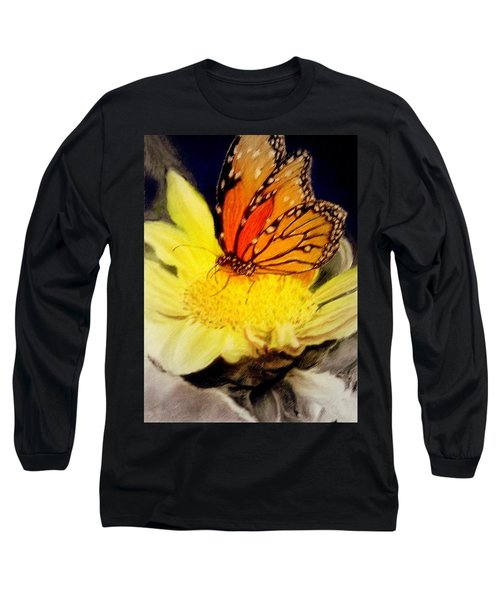Monarch Resting Sold Pastel Long Sleeve T-Shirt by Antonia Citrino